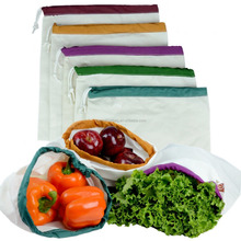 cotton Eco Friendly Washable and Reusable Produce Bags shopping bags