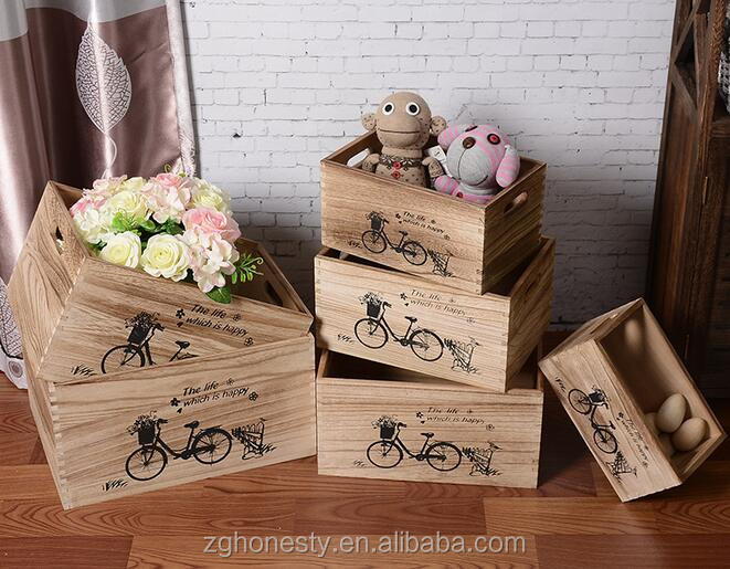 Wholesale wooden crate,chic vintage wood fruit crates