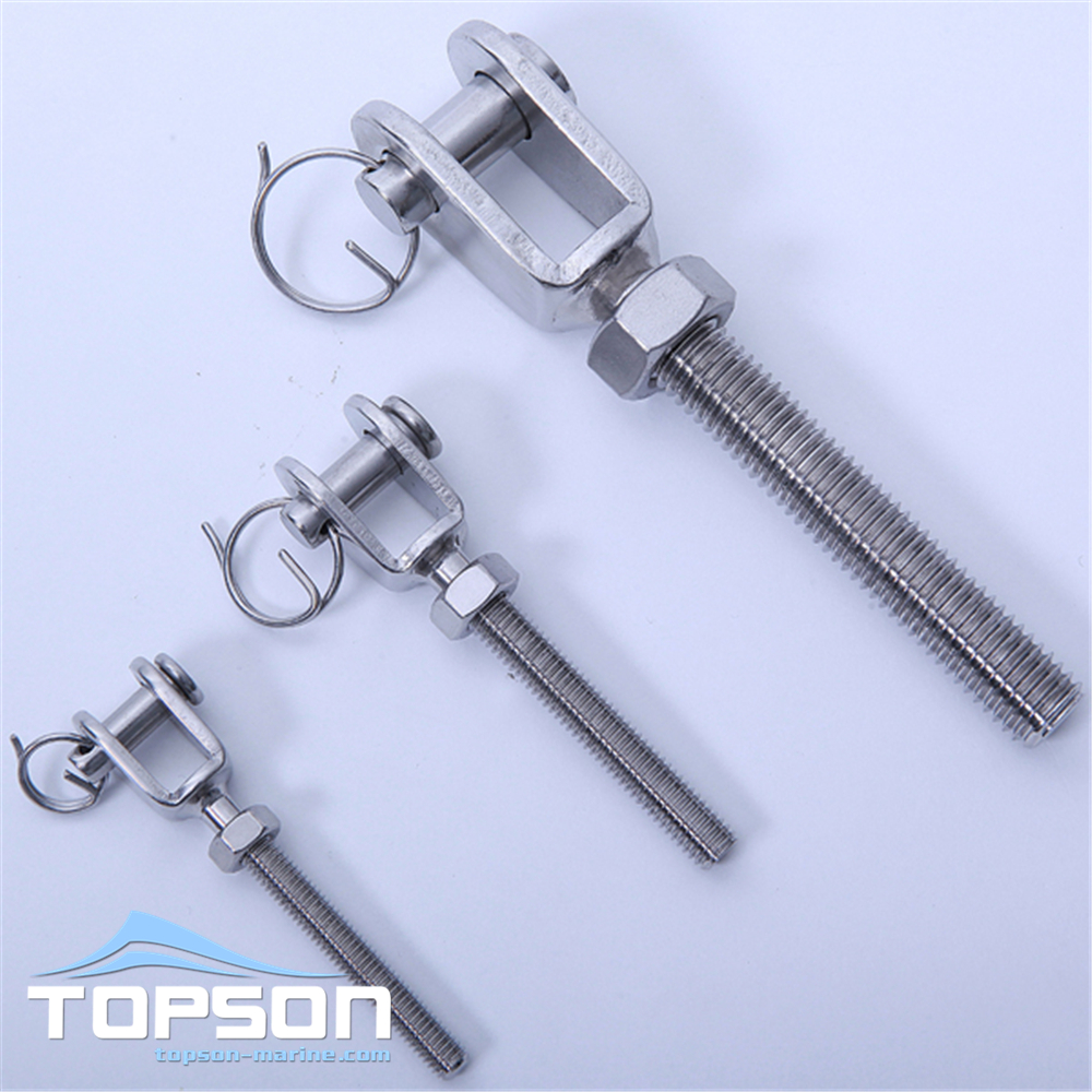 Hardware stainless steel fork thread terminal type rigging terminal