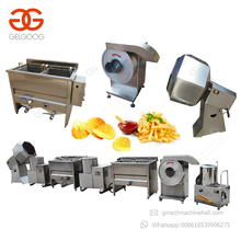 Factory Price Semi Automatic Manual Potatoes Crisps French Fries Production Line Small Scale Sweet Potato Chips Making Machine