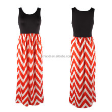 HD-158 Hot Sleeveless O-Neck xxl size women Summer Dress Casual Sexy Long Party Dresses For Fat Girls