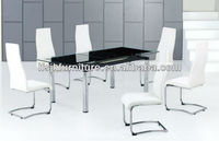 extendable squre shape glass dining table SDT-256
