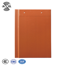 Asian flat glazed 300*400mm clay tiles roof