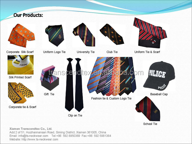 hot sale black color uniform polyester Clip on tie