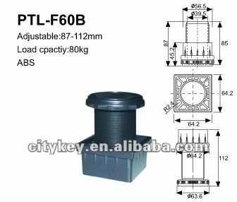 Adjustable Plastic Furniture Legs PTL-F60B