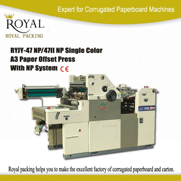 RYJY-47 NP Single color A3 Paper Offset Printing Machine price