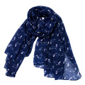 2018 fashion light weight spring dog printed viscose scarf