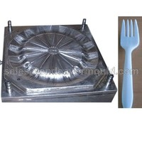 Top-rated supplier pp table ware mould-----fold fork with 12 cavities