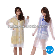 New Lady Women Rain Coat Transparent/women Raincoat Pvc