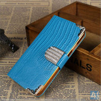 Lizard Grain Diamond Stand PU Leather Case for Samsung Galaxy Note 3 N9000 N9002 N9005 P-SAMN9000CASE016