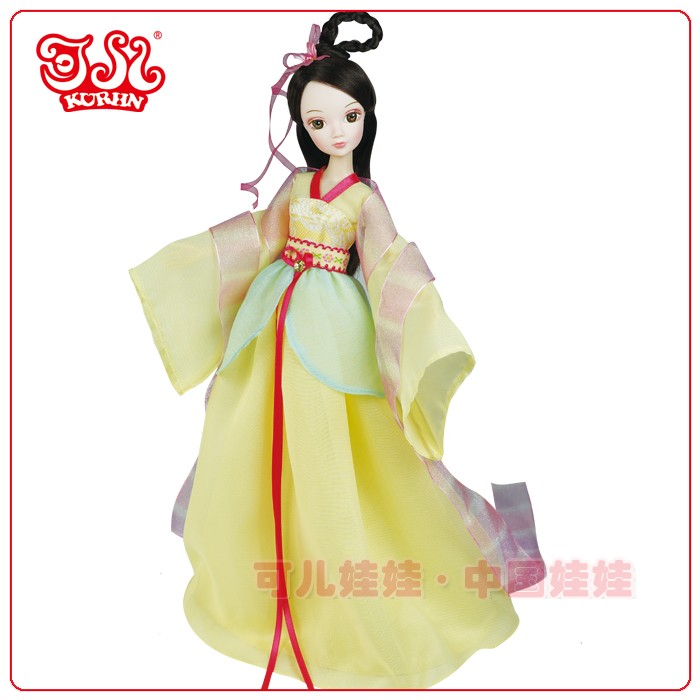 Chinese traditional plastic doll flying fairy doll