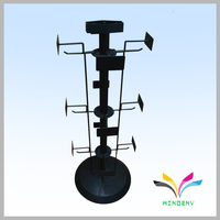 Rotating metal post card greeting card display stands