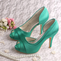 (20 Colors) Summer High Heel Wedding Woman Shoes Yellow