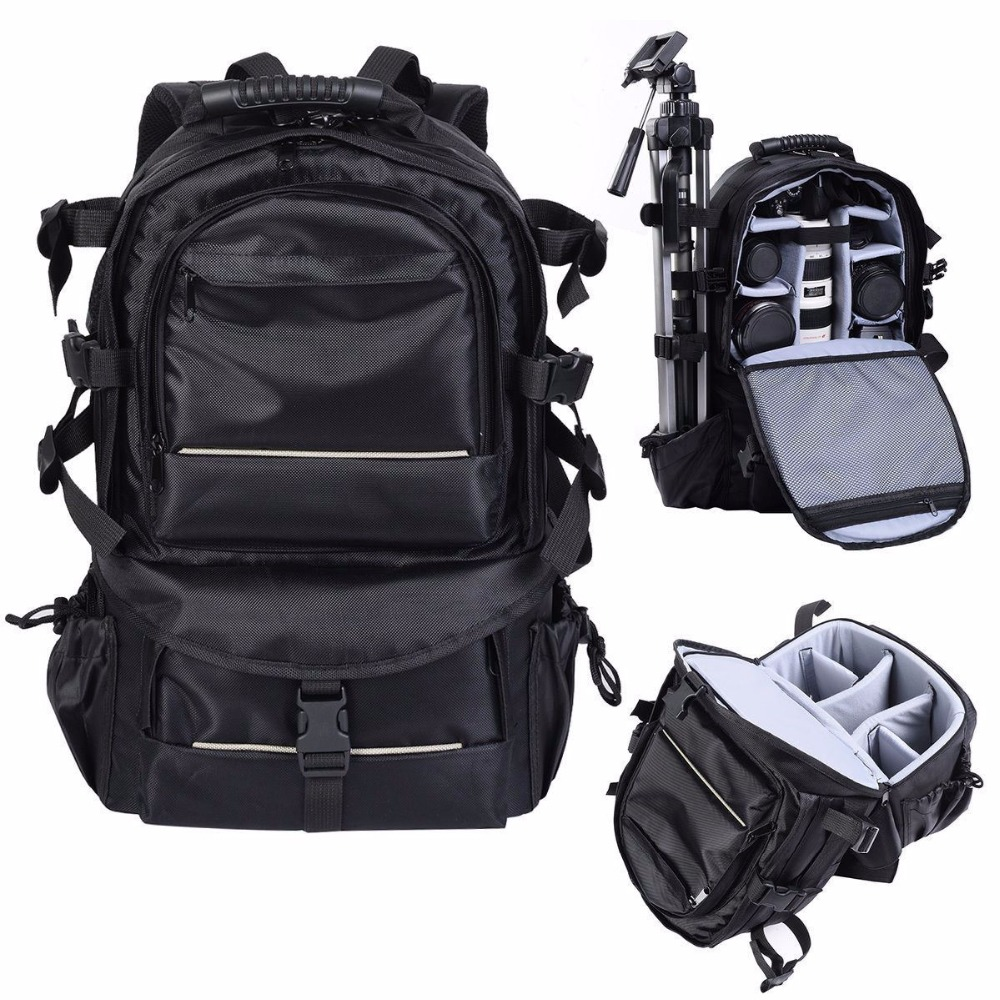 1680D Nylon Deluxe Camera Backpack Bag Multifunctional Case