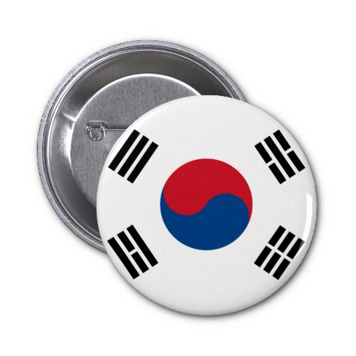 Korean flag lapel pins