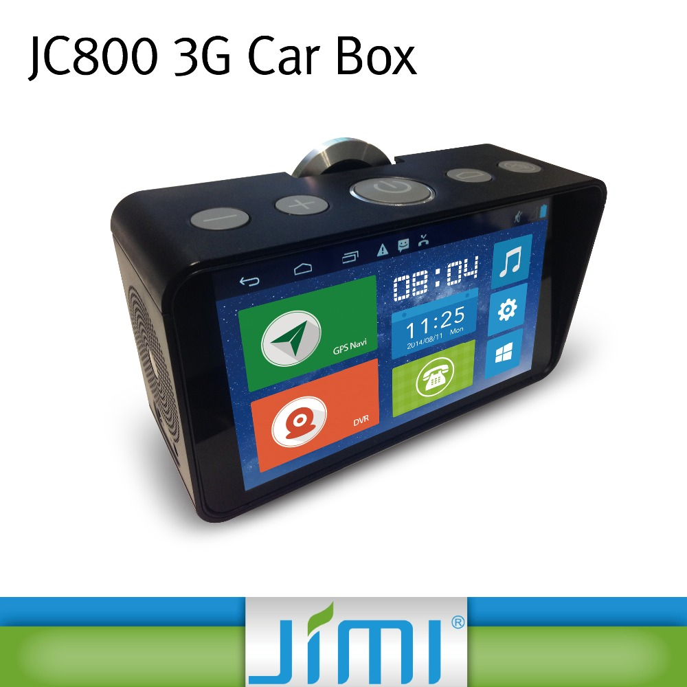 JIMI JC800 1080P smart android gps tracker dash camera box dvr recorder with hd 5.5 inch screen