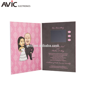 2018 Low Price creative greeting invitation wedding card