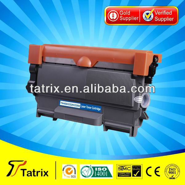 TN2220 / TN450 Toner for brother Compatible Black Toner Cartridge TN2220 / TN450,with 2 years warranty