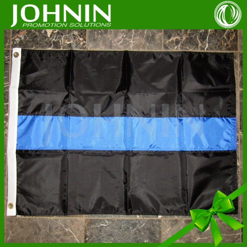 black blue color printing hanging use China factory sublimation printing polyester USA thin blue line 3x5ft flag