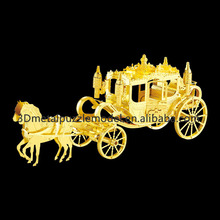 Educational Toys Diy 3D Laser Cut Models Royal Carriage scale model puzzle