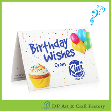 NEW design custom music happy birthday card sample with mp3 song