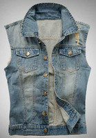 Hot Sell High Quality Fashion Young Men Casual Denim Jean Vest