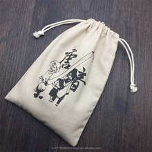 Cotton Linen Bag Drawstring for Packing, Custom Promotion Cotton Pouch