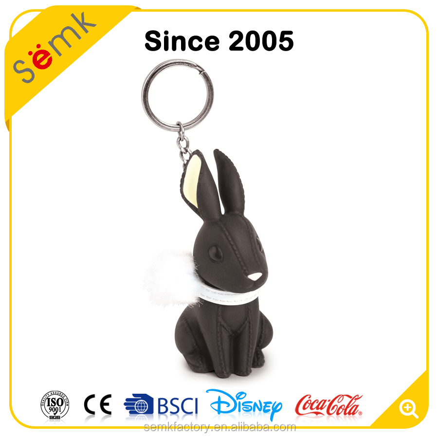 Semk promotional animal shaped novelty plastic keychain for gift