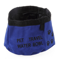 Factory Price Pet Cat Collapsible Travel Pet Bowl Camping Waterproof Foldable Food Water Small Dog Feeders Bowl For Dog Bowl