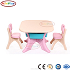 KINPLAY Brand Kids Plastic Table With Two Seats For Studying