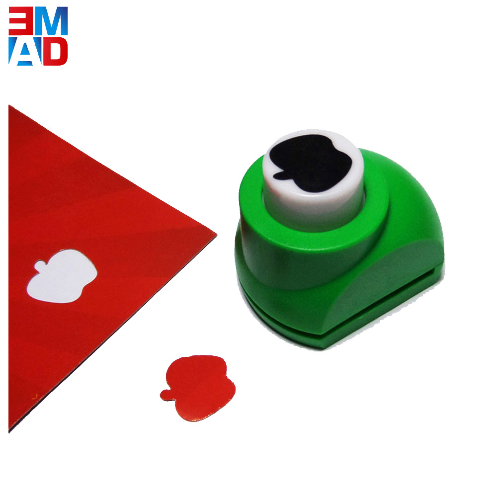 1CM DIY decorative fancy metal parts custom apple shaped craft paper hole punch for children gift
