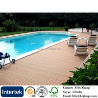Water Resistant Decking Board For Outdoor Use Wood Plastic Composite WPC Deck