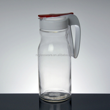 Export Oriented Factory Customized Handle Candy Storage Glass Jar With Tap,Glass Jar With Handle,Tea Cups With Handle