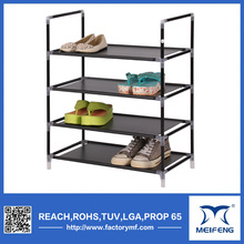 black 95g non-woven fabric waterproof shoes rack furniture sapateira