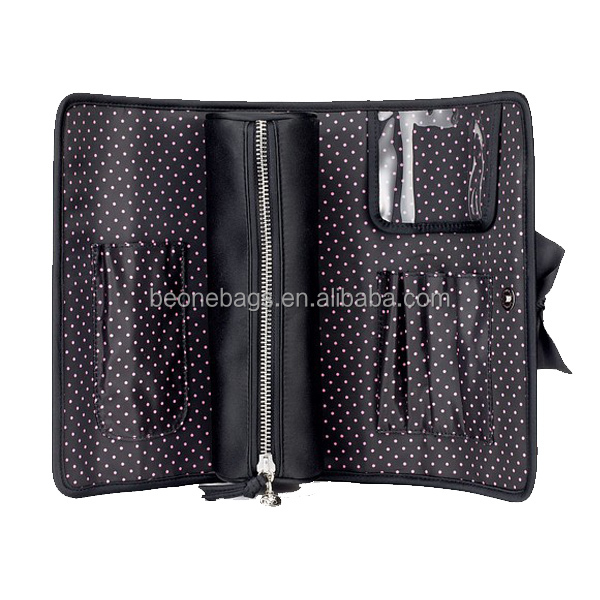 2014 summer modern affordable rolling brushes makeup bag/pouch