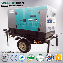 440V Silent 30kva 25kw Portable Air-Cooled Diesel Generator with Stamford Alternator