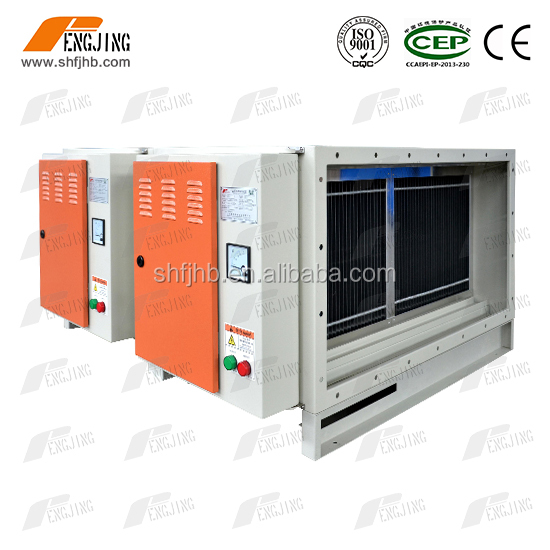 Electrostatic precipitator exhaust grease fume purifier for flue gas cleaning with honeycomb filter