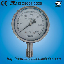(YBF-100) 100mm all ss gauge for measuring tool pointer type manometer