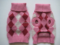 pink pet sweater/dog clothes