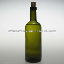 green 750ml glass beer bottle cheap price