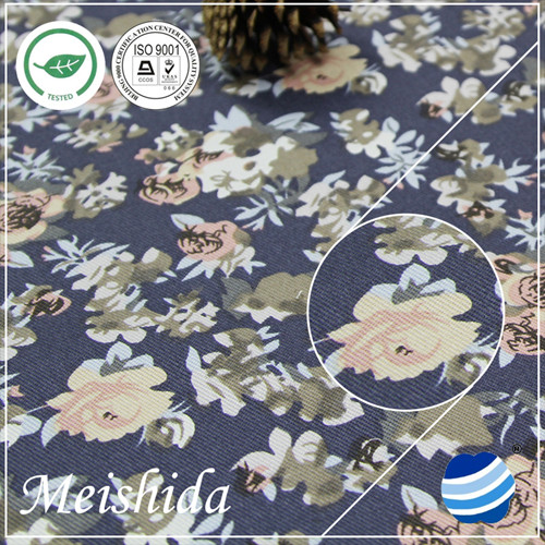 organic cotton print sateen fabric wholesale