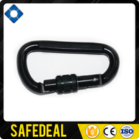 Black Screwgate Safety Carabiner