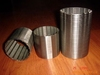 stainless steel slot screen pipe/SS johnson wedge wire screen