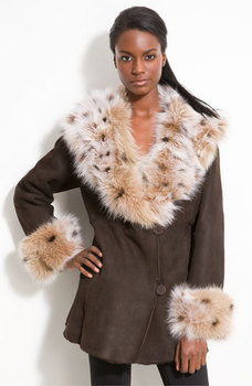 woman winter fur coat