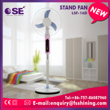 New ac/dc usha china rechargeable pedestal standing fan price