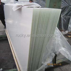 4MM RAL9003 super white painted satin glass with safety back foil