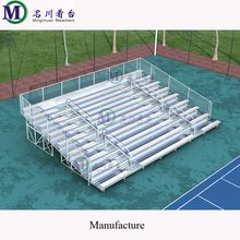 MCDB-10F deluxe aluminum bleacher bench seating metal grandstand outdoor use tribune for event stadium stands with chair