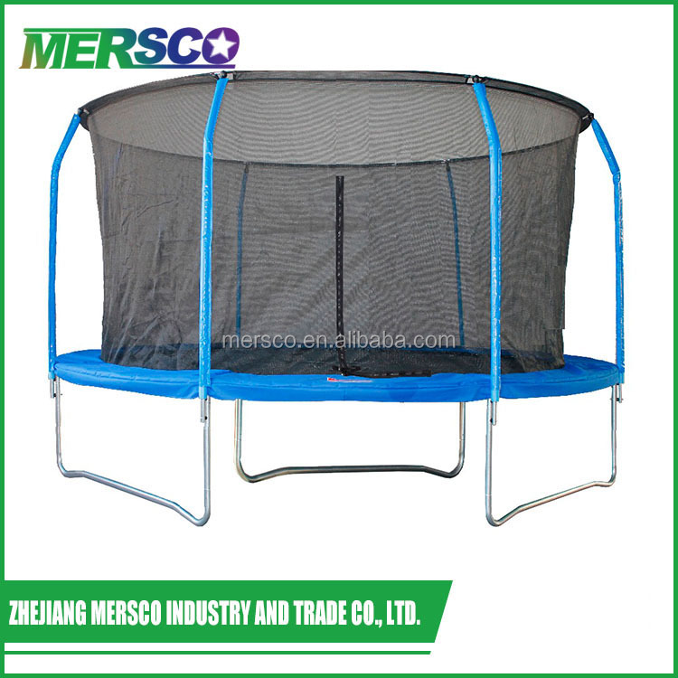 2017 hot big outdoor fitness sports trampoline with safety net GREAT