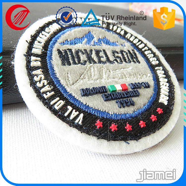 embroidery label machine production sew on felt letters embroidery label