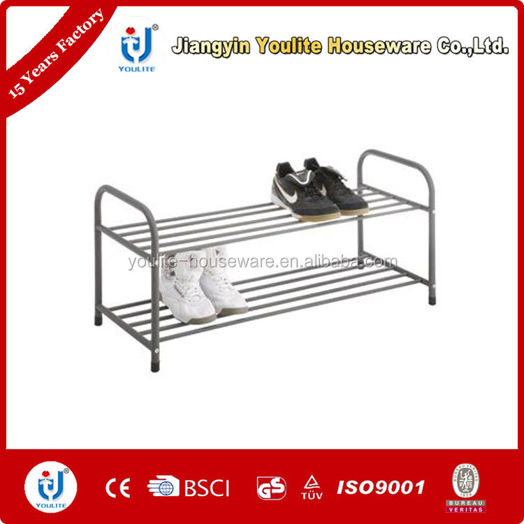 two layer steel cabinet parts shoe rack